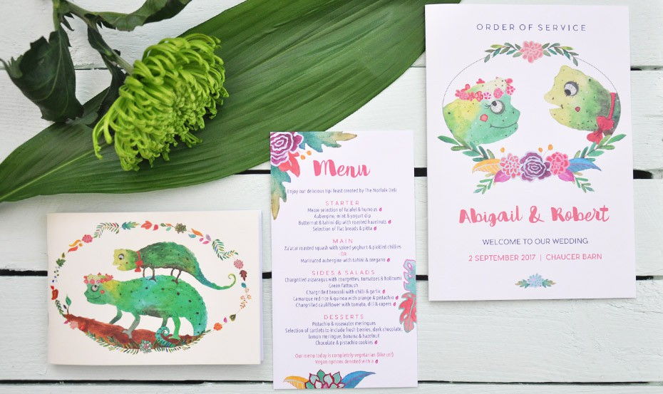 Bespoke wedding stationery collection