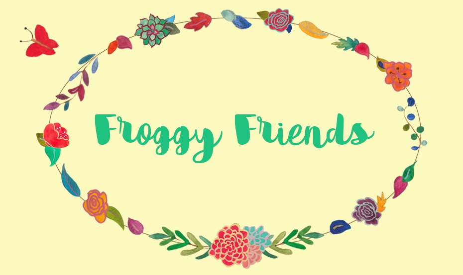 Froggy friends illustrated design