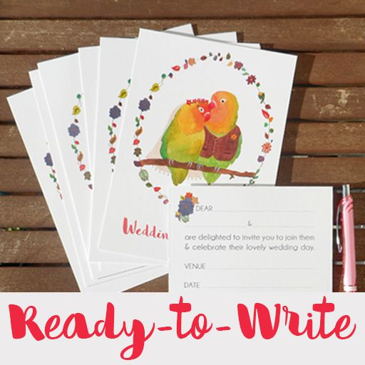 Ready-to-Write wedding invitations page link